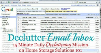 How to declutter email inbox