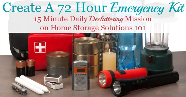 Free printable emergency supply list with everything you need to make a 72 hour emergency kit for your family for three days {courtesy of Home Storage Solutions 101} #EmergencyPreparedness #EmergencyPrep #EmergencyPreparations