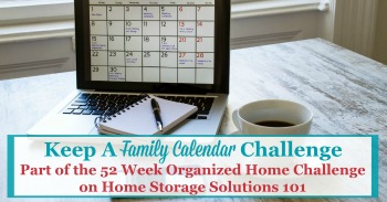 Keep a family calendar challenge