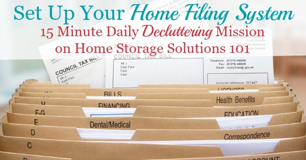 Set Up Your Home Filing System Using This List Of Suggested Home File  Categories {a ...