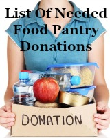 list of needed food pantry donations