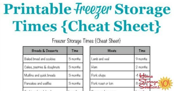 Freezer Storage Times Chart How Long Frozen Food Stays Good