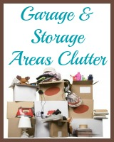 garage and storage areas clutter