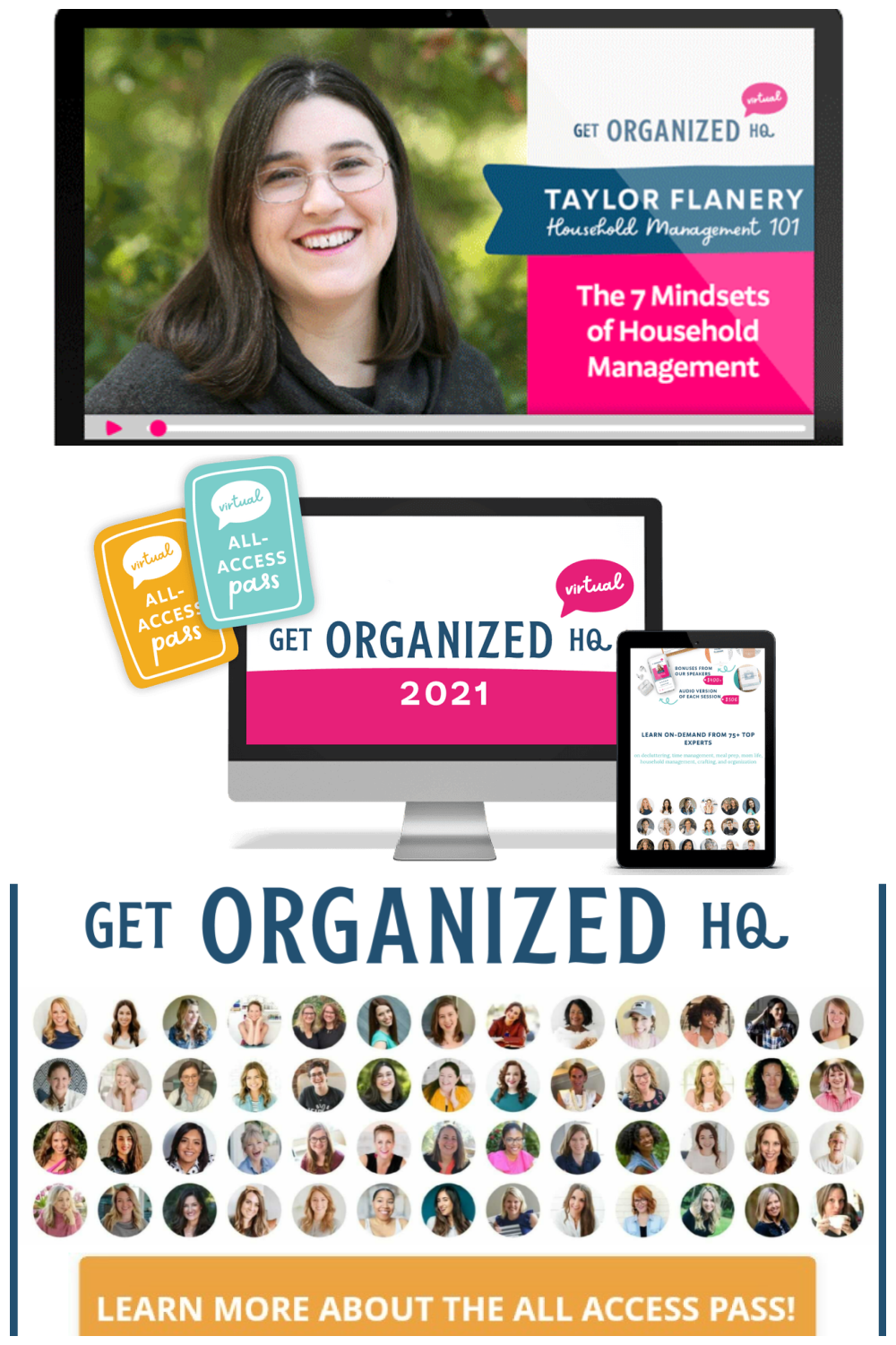 Are you ready to organize your life and streamline your home for good? If so, check out Get Organized HQ and get access to over 70 practical workshops for a stress-free home, including a workshop from me, Taylor!