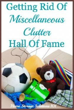 miscellaneous clutter
