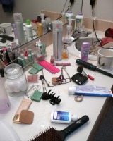makeup and toiletries