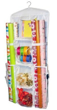 Click to buy hanging gift wrap organizer