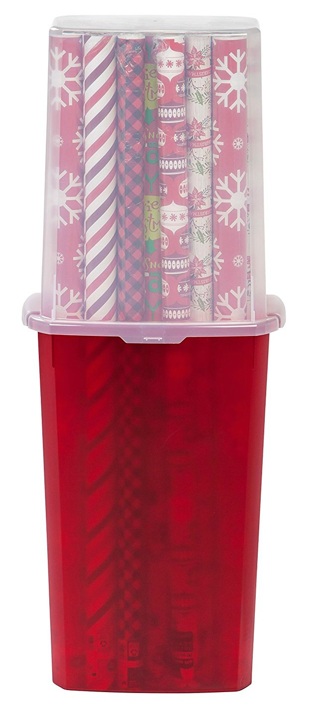 Click to buy wrapping paper and gift wrap storage container
