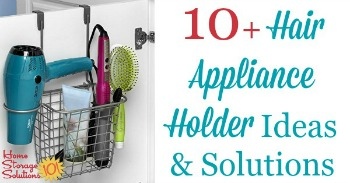 Over 10 hair appliance holder ideas and solutions