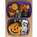 halloween plastic storage bins
