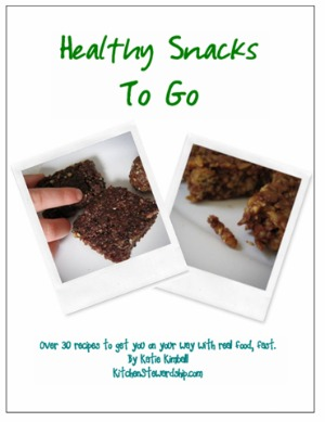 healthy snacks to go ebook