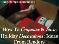 how to organize and store holiday decorations