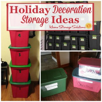 Holiday decoration storage ideas
