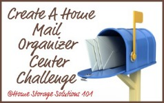 create a home mail organizer center challenge