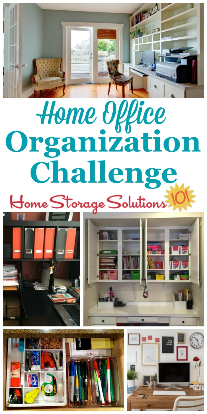Step By Step Instructions For Home Office Organization, Including Organizing  Home Office Supplies, ...