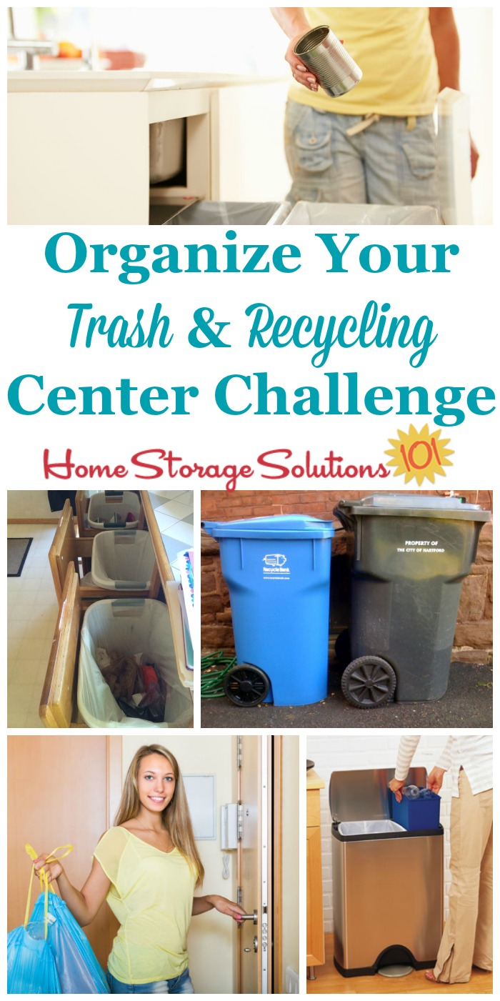 Create A Home Recycling Center To Make It Easy To Go Green