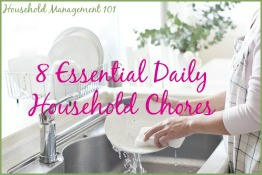 8 essential daily household chores