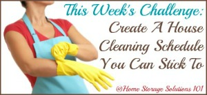 create a house cleaning schedule