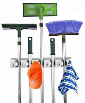 mop and broom wall rack