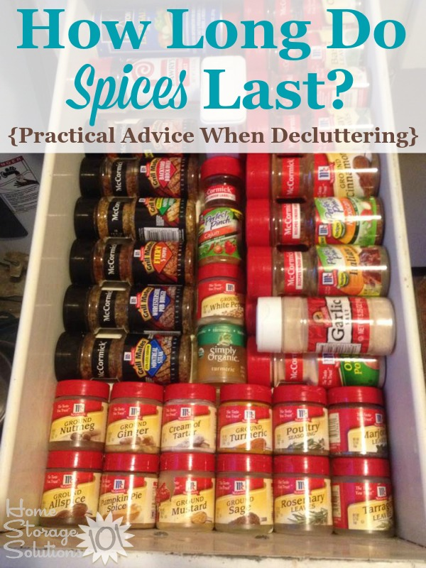 Pratical advice for how long do spices last when taking on this #decluttering project in your kitchen {on Home Storage Solutions 101} #declutter #PantryOrganization