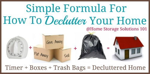 simple formula for how to declutter your home