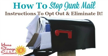How to stop junk mail: instructions to opt out and eliminate it