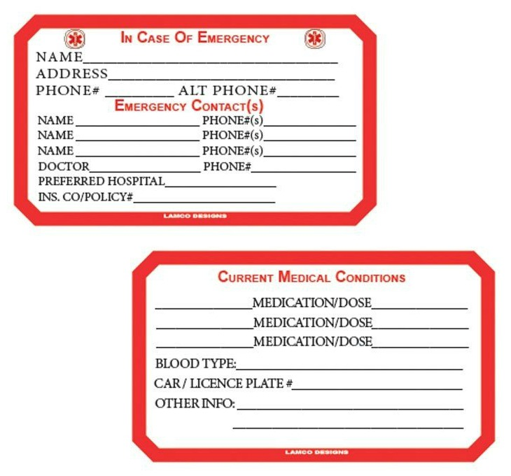 ICE wallet card, to fill out and keep in your wallet in case of emergency {featured on Home Storage Solutions 101} #ICEApp #AppReviews #EmergencyPreparedness