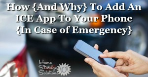 How and why to add an ICE app to your phone