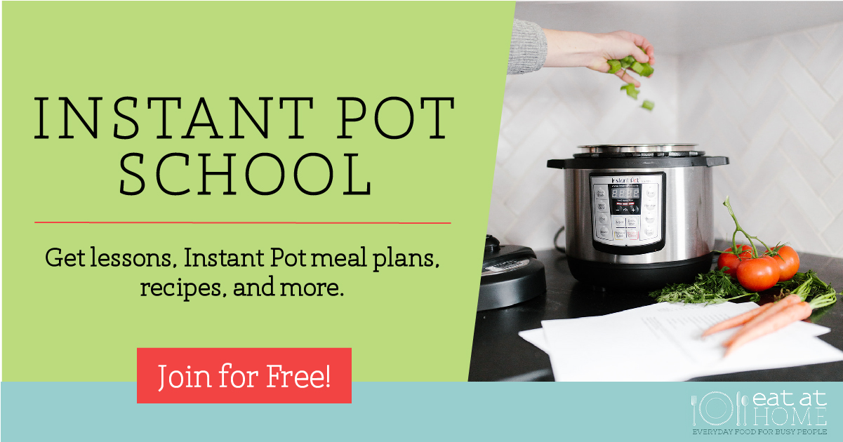 Join Instant Pot School to get lessons on how to use your Instant Pot, plus meal plans and recipes designed for this electric pressure cooker, all for free {more information on Home Storage Solutions 101}
