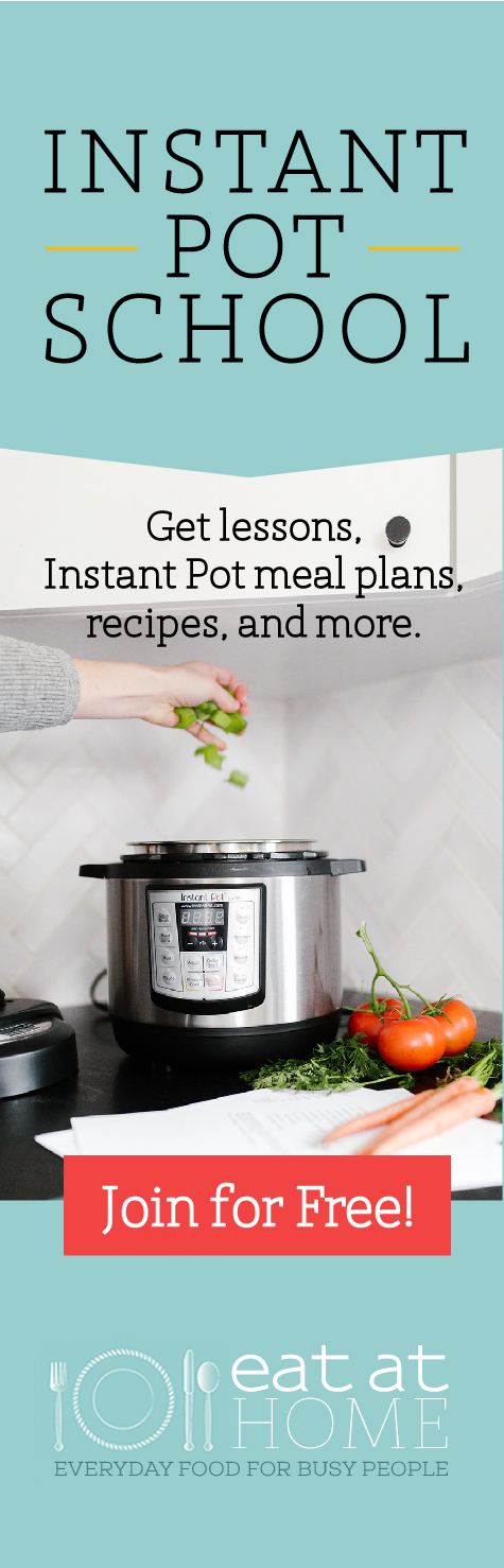 Join Instant Pot School to get lessons on how to use your Instant Pot, plus meal plans and recipes designed for this electric pressure cooker, all for free {more information on Home Storage Solutions 101} #InstantPot #ElectricPressureCooker #MealPrep