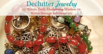 How to declutter jewelry