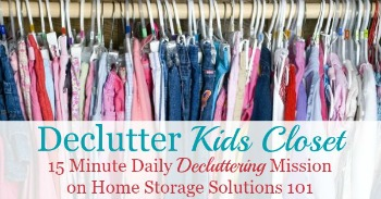 How to declutter kids closet
