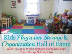 kids playroom storage & organization ideas