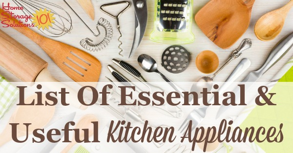 Essential Gadgets & Small Kitchen Appliances List
