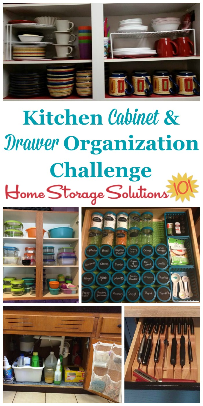instructions for drawers & kitchen cabinet organization