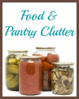 food and pantry clutter