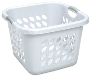 sterilite square plastic laundry basket