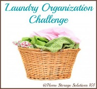 Week #24 Organized Home Challenge: Laundry Organization