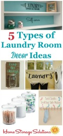5 types of laundry room decor ideas