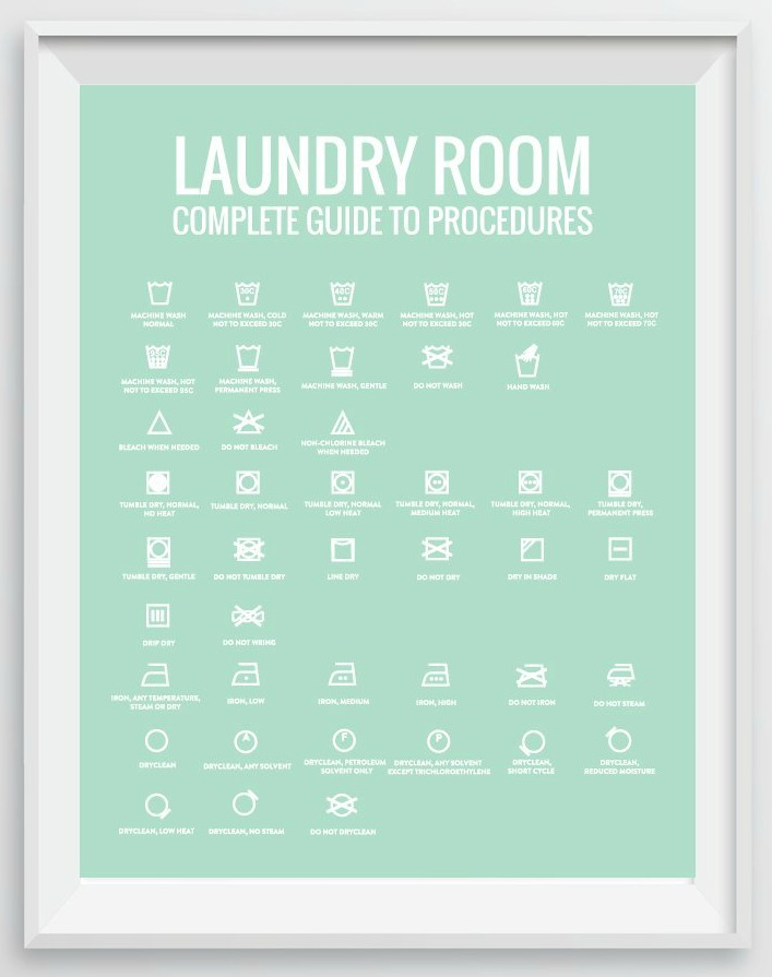 photograph regarding Laundry Symbols Printable named 5 Laundry Space Decor Programs
