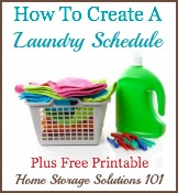 create a laundry schedule