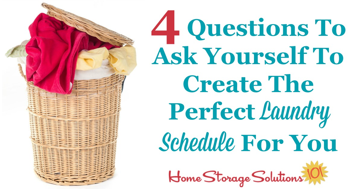 4 questions to ask yourself to create the perfect laundry routine for you and your family. Don't follow someone else's plan, make your own that suits your personality and needs! {on Home Storage Solutions 101}