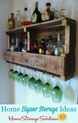 home liquor storage ideas