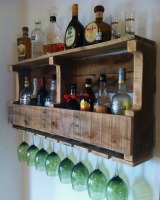 liquor storage wall rack