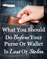 what to do before you wallet is lost or stolen