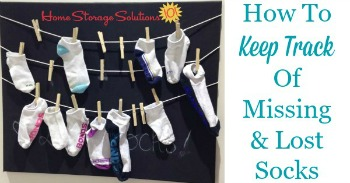 How to keep track of missing and lost socks