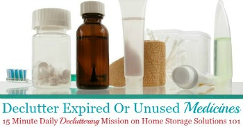 How to declutter expired or unused medicines