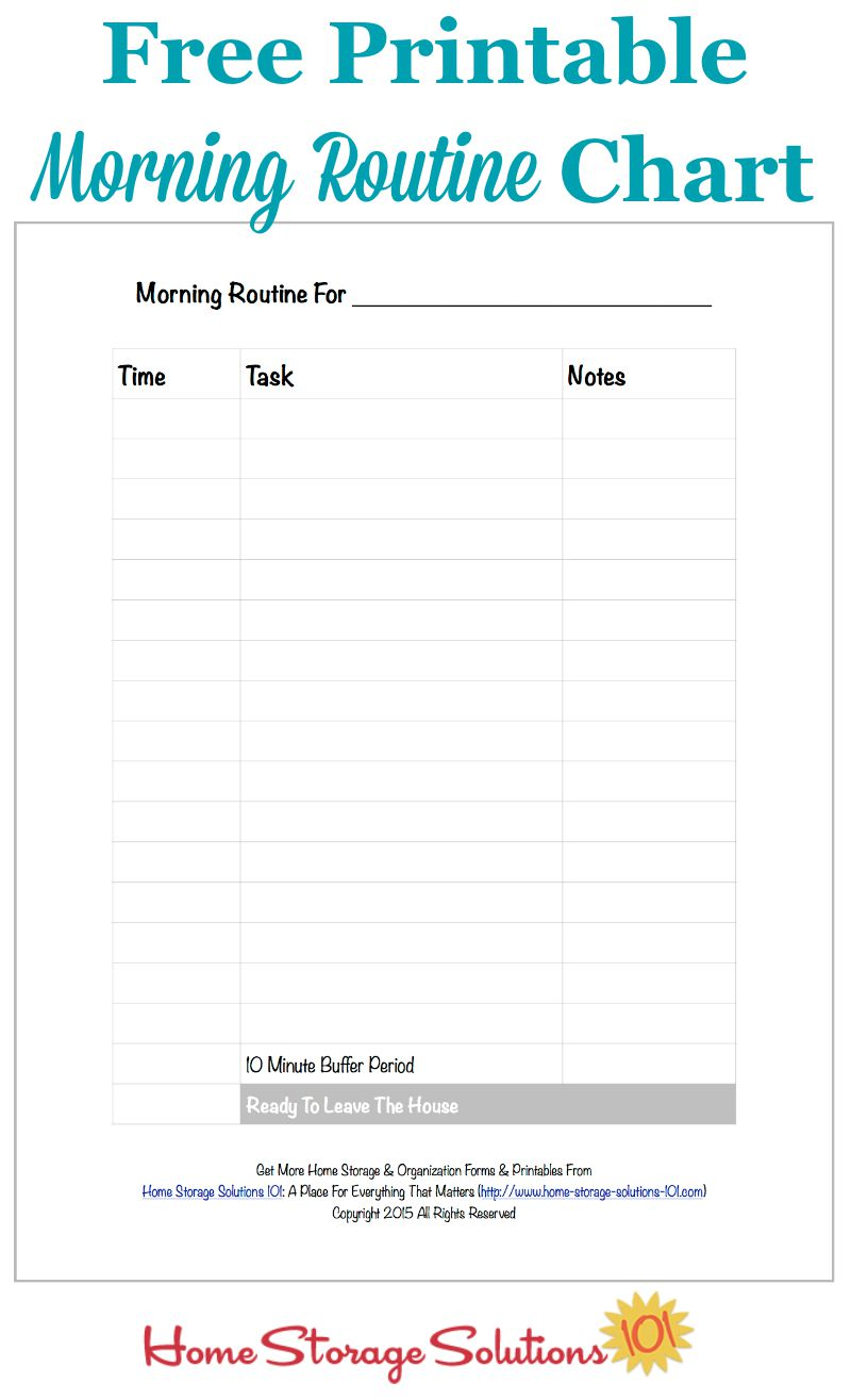 Free Printable Morning Routine Chart {Plus How To Use It}