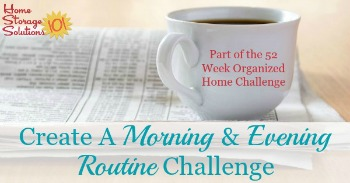 Create a morning and evening routine challenge