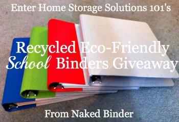 naked binder's school binders giveaway